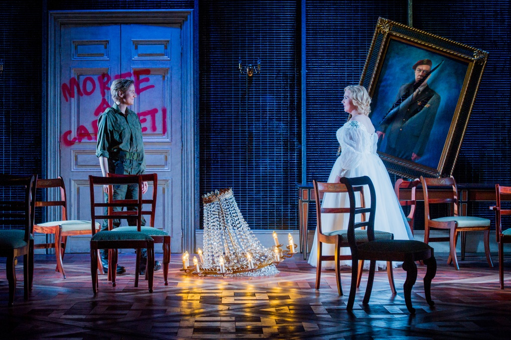 Stephanie Marshall as Romeo and Sarah-Jane Brandon as Giulietta in I Capuleti e i Montecchi. Buxton Festival. Photo (c) Robert Workman