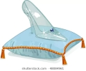 crystal-slipper-on-blue-pillow-260nw-48084961
